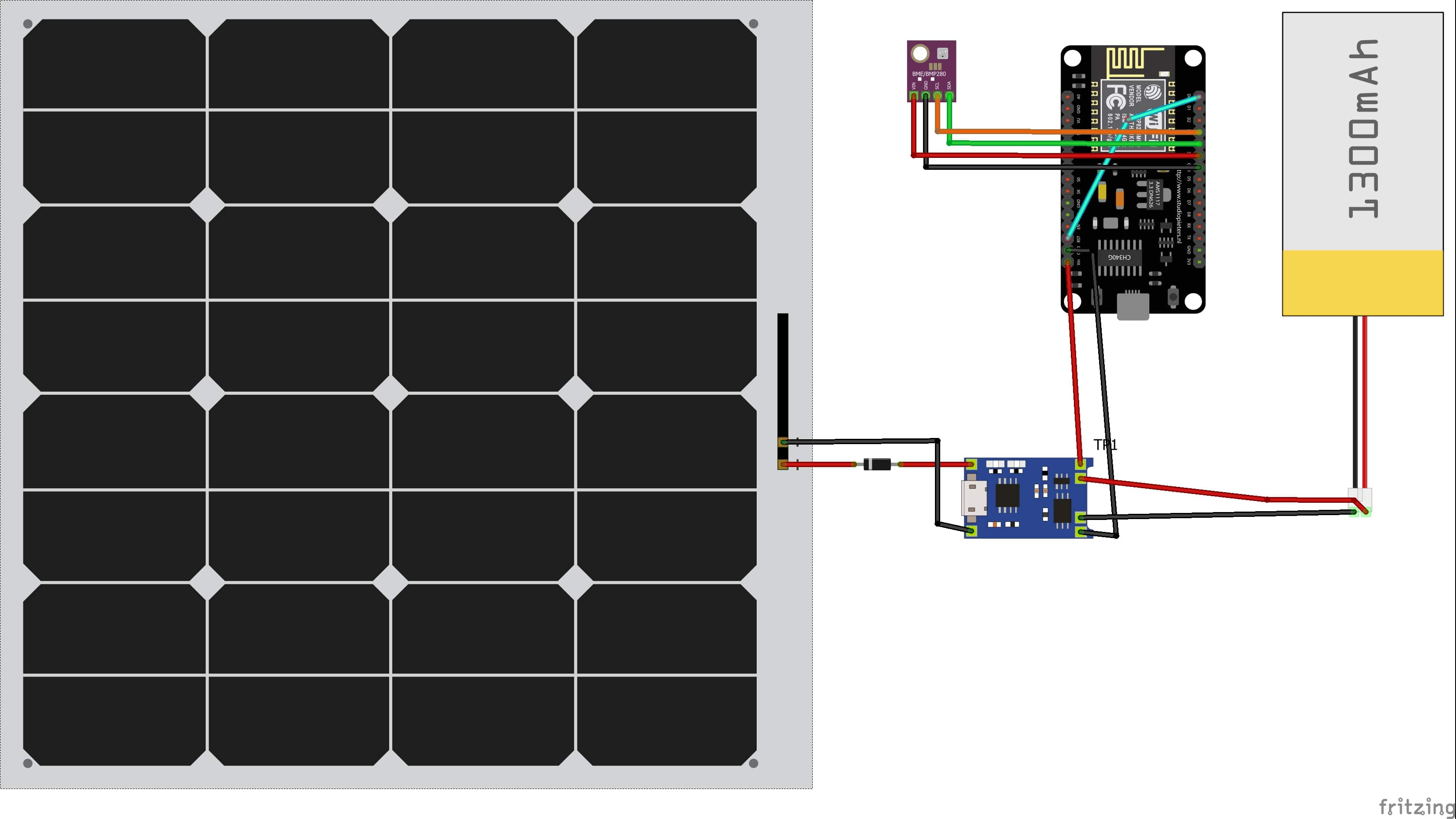 ESP8266 Solar Powered Weather Station